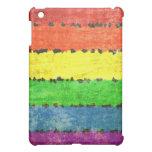 Grunge Rainbow Stripes iPad Mini Case