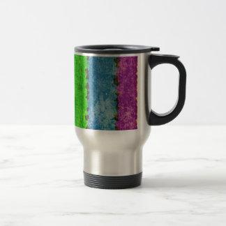 Grunge Rainbow Stripes Travel Mug