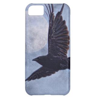 Grunge Raven & Moon Lt Blue Art Design iPhone 5C Case