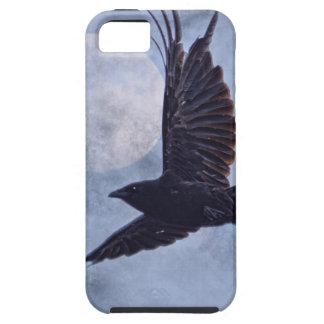 Grunge Raven & Moon Lt Blue Art Design iPhone SE/5/5s Case