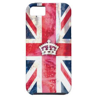 Grunge real de la bandera de 311 Británicos iPhone 5 Carcasas