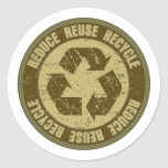 Grunge reciclado etiqueta