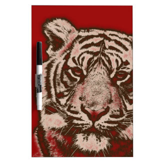 Grunge Red Abstract Tiger Dry-Erase Board