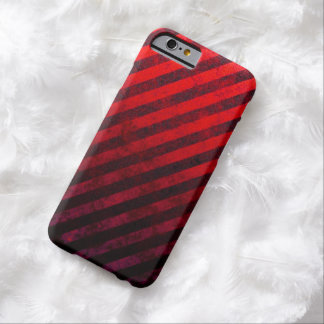 Grunge Red And Black Striped iPhone 6 Case