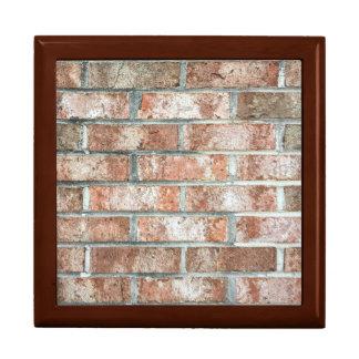 Grunge Red Brick Wall Brown Bricks Background Tan Keepsake Box