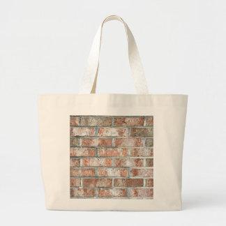 Grunge Red Brick Wall Brown Bricks Background Tan Large Tote Bag