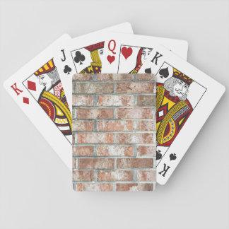 Grunge Red Brick Wall Brown Bricks Background Tan Playing Cards