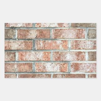 Grunge Red Brick Wall Brown Bricks Background Tan Rectangular Sticker