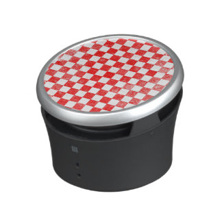 Grunge red checkered, abstract background bluetooth speaker