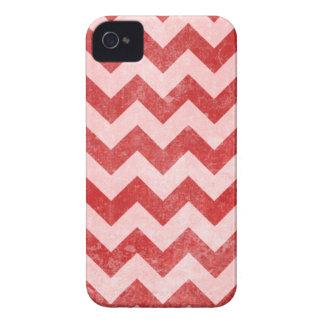 Grunge Red Chevron Pattern iPhone 4 Case