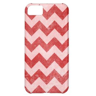 Grunge Red Chevron Pattern iPhone 5 Case
