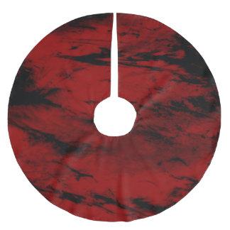 Grunge,red Brushed Polyester Tree Skirt