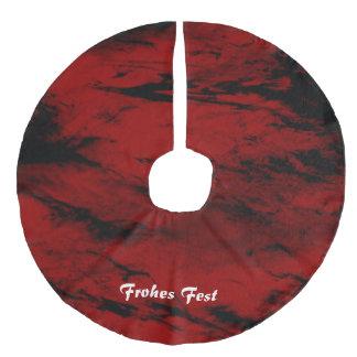 Grunge,red Faux Linen Tree Skirt