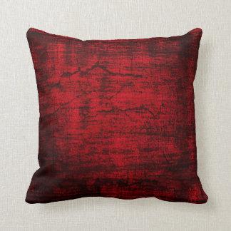 Grunge Red Paint abstract art Pillow