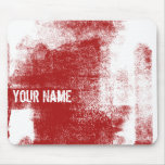 Grunge Red Paint Mouse Pads