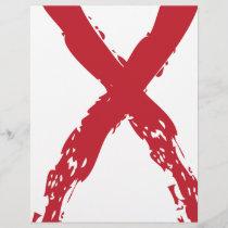 Grunge Red Ribbon
