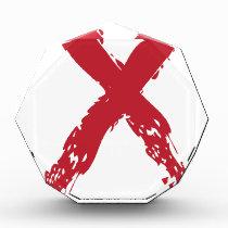 Grunge Red Ribbon Acrylic Award