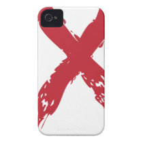 Grunge Red Ribbon iPhone 4 Cover