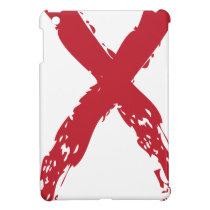 Grunge Red Ribbon iPad Mini Cover