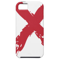 Grunge Red Ribbon iPhone SE/5/5s Case