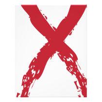 Grunge Red Ribbon Letterhead