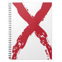 Grunge Red Ribbon Notebook