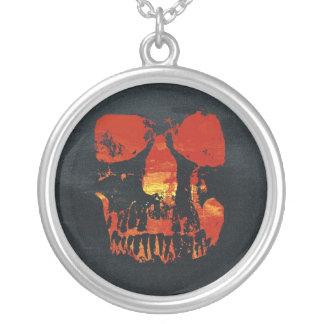 Grunge Red Skull Necklace