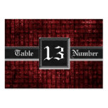 Grunge Red Weave Gothic Guest Table Number Business Card Templates