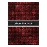 Grunge Red Weave Gothic Wedding Invites