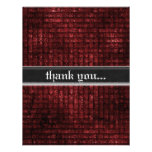 Grunge Red Weave Gothic Wedding Thank You Personalized Invites