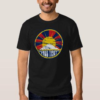 Grunge redondo libre de Tíbet Camisas