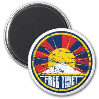 Grunge redondo libre de Tíbet Imán Redondo 5 Cm