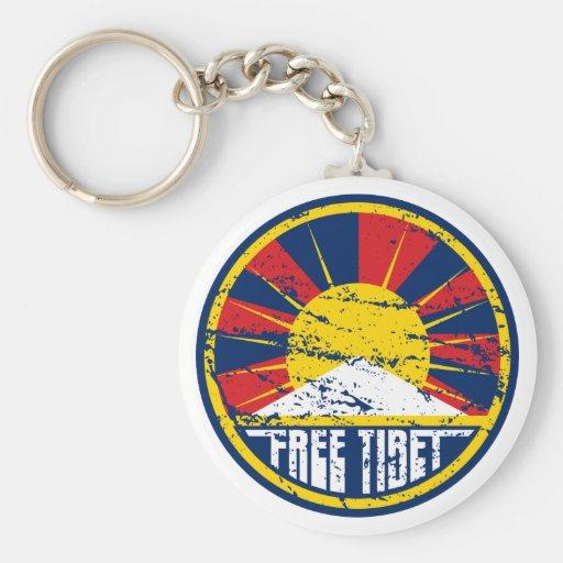 Grunge redondo libre de Tíbet Llaveros