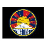 Grunge redondo libre de Tíbet Postales