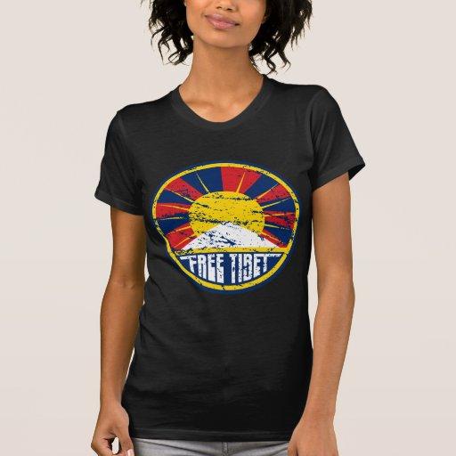Grunge redondo libre de Tíbet Tee Shirt