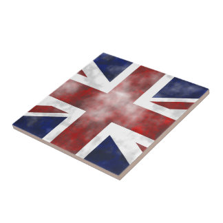 Grunge Reino Unido Azulejo Cuadrado Pequeño