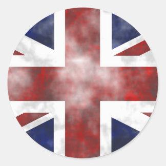 Grunge Reino Unido Pegatinas Redondas