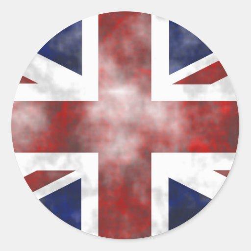 Grunge Reino Unido Pegatina Redonda
