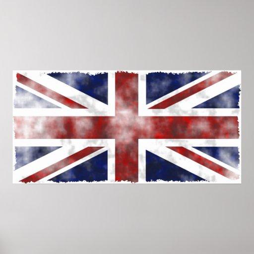 Grunge Reino Unido Póster