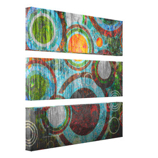 Grunge Retro Circles Canvas Print