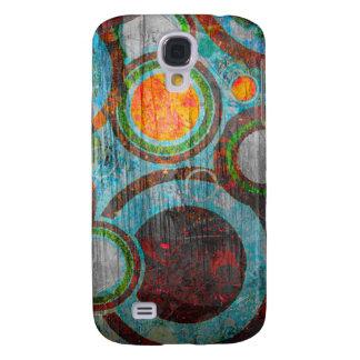 Grunge Retro Circles Samsung S4 Case