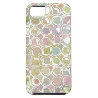 Grunge Retro Distressed Circle & Square Pattern iPhone 5 Cases