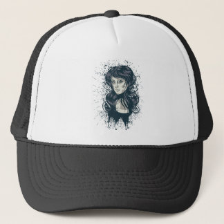 Grunge Retro Girl 2 Trucker Hat
