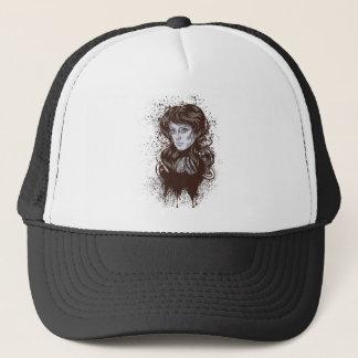 Grunge Retro Girl Trucker Hat