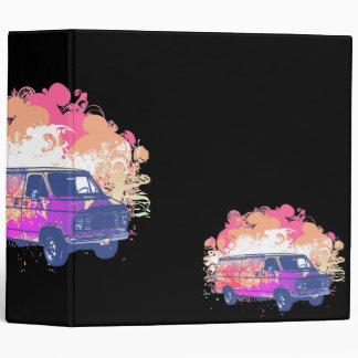 grunge retro hippie van notebook binder