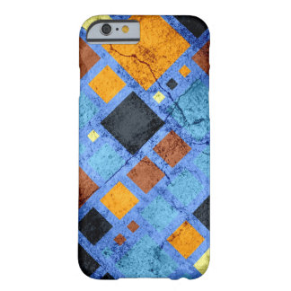 Grunge Retro Modern Squares Pattern Barely There iPhone 6 Case