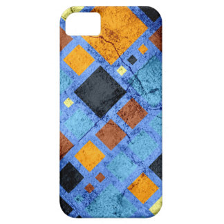 Grunge Retro Modern Squares Pattern iPhone SE/5/5s Case