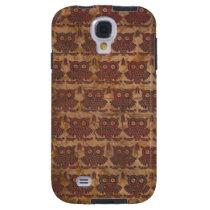 Grunge Retro Pattern Owls Samsung S2 Case