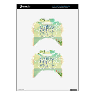 grunge,retro photo,trendy,happy place,typography xbox 360 controller decal