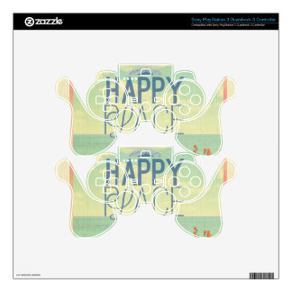 grunge,retro photo,trendy,happy place,typography PS3 controller skins